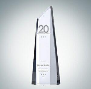 Polygon Optical Crystal Obelisk Award (Large)