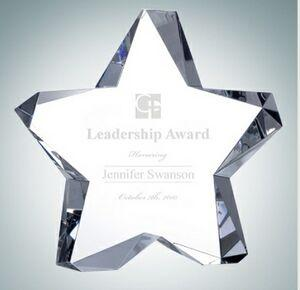 Twinkle Optical Crystal Award Plaque (5 1/2