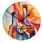11.4 inch Full Color Round Large Wall Clock Custom Imprinted