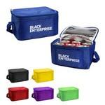 Logo Branded Insulated 6 Pack Polyester Lunch Cooler Bag