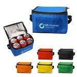 Logo Branded Insulated 6 Pack Non Woven Lunch Cooler Bag