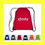 Drawstring Cinch Backpack Sports Tote Bag (Overseas) Logo Branded