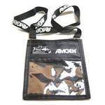 Custom Printed Customized Lanyard W/Large Pouch Badge Holder