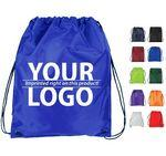 210D Polyester Drawstring Backpack Custom Printed