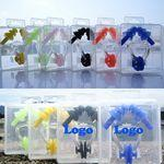 Logo Branded Soft Silicone Swimming Ear Plugs + Nose Clip + Case Set breathing