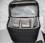 Custom Imprinted Shoulder Bag for Camera - Black Micro fiber