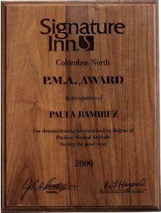 Premium Walnut Lasered Plaque 9