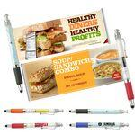 Logo Branded Banner Pen with Stylus