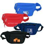 Custom Embroidered Poly Three Zipper Fanny Pack