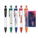 Click Action Plastic Tube Ballpoint Pen Custom Imprinted