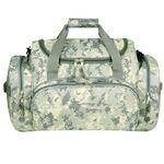 Logo Branded Poly Digital Camo Deluxe Duffel Bag