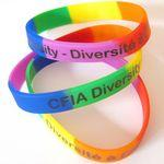 Multi-colored Silicone Bracelet Custom Imprinted