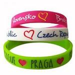Custom Engraved Silicone Wristbands with Debossed Color Logo