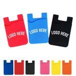 Eco-Friendly Silicone Adhesive Cell Phone Wallet Imprinted Logo