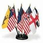 Custom Printed Flags Of Our Country Desk Set